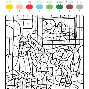 Coloriages Chevaux Coloriage Coloriage Magique Coloriage Cheval