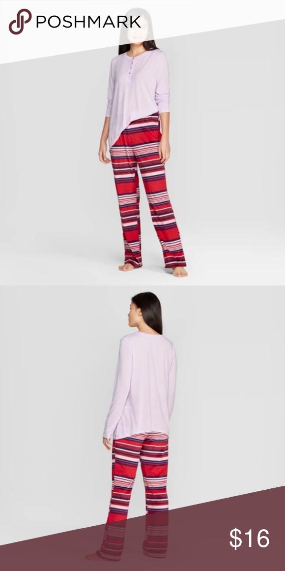 Gilligan O Malley Pajamas : gilligan, malley, pajamas, Gilligan, O'Malley, Pajama, Striped, Fleece, Violet, Pajamas,, Pants