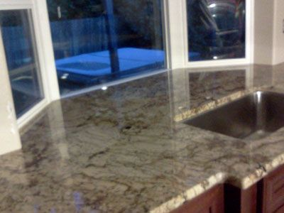 Sink In Flat Countertop With No Backsplash Countertops