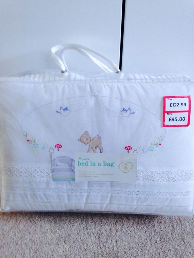 2bed4a29f0a9 BNWT Gorgeous Jools Oliver Little Bird Baby Girl 5 Piece Nursery   Cot  Bedding.