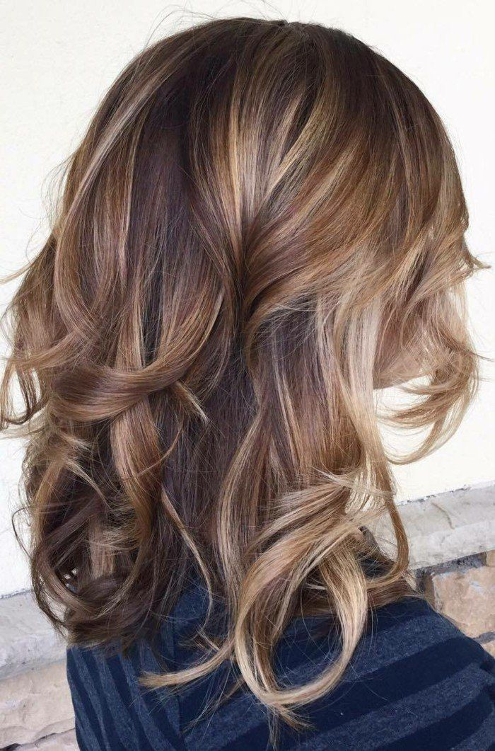 balayage blond ou caramel pour vos cheveux ch tains balayage miel sur brune balayage coiffure. Black Bedroom Furniture Sets. Home Design Ideas