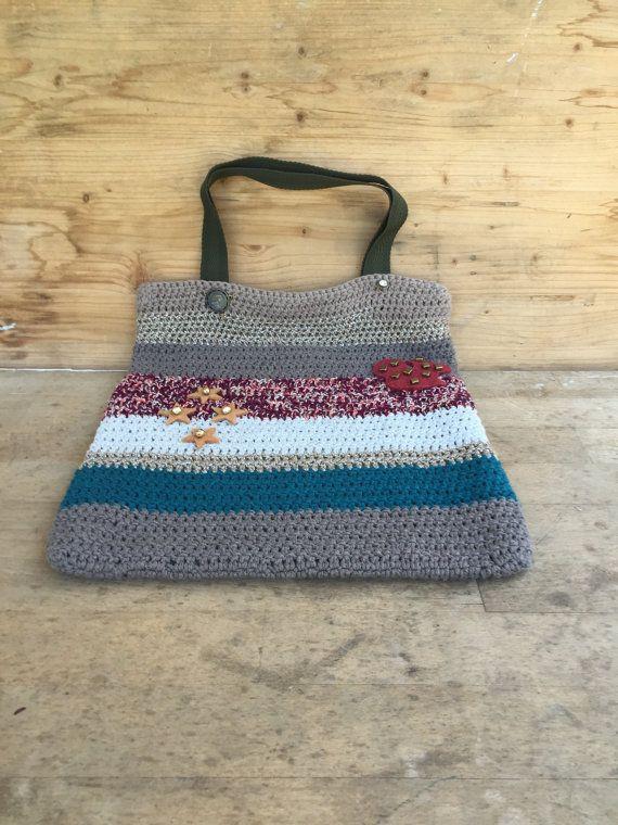 borsa shopping fatta a mano  borsetta in cotone  di MonicaAntique