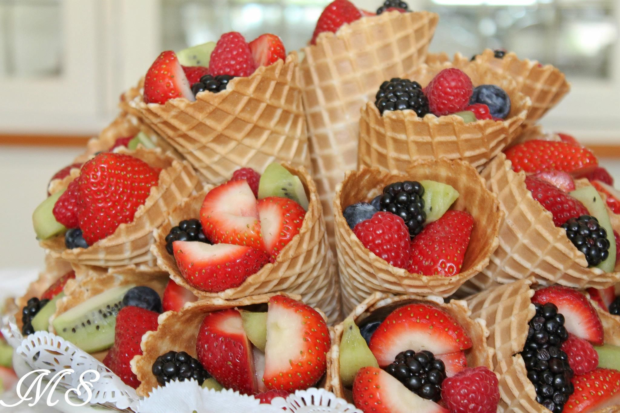 fruit in waffle cones birthdays pinterest
