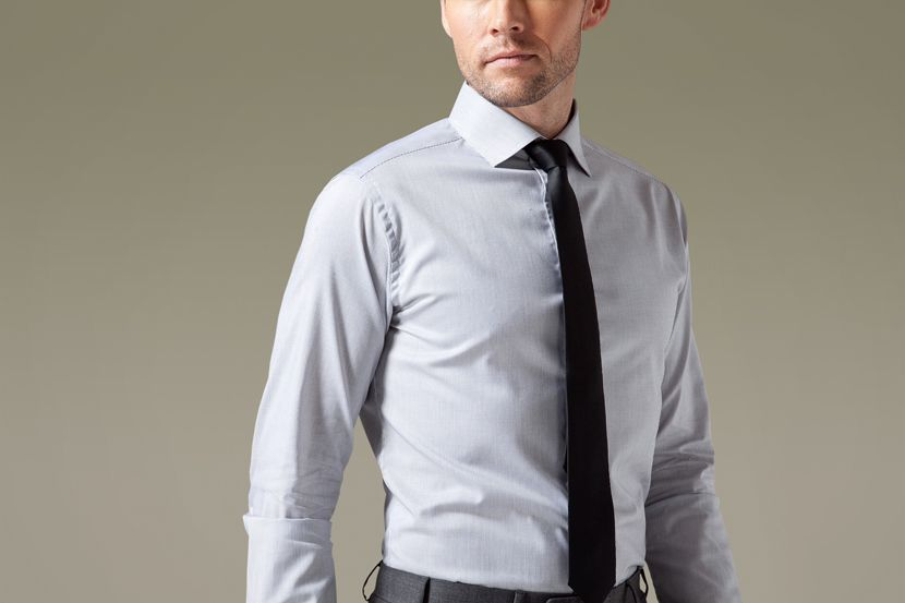 The neutral hue of the light grey is soft, and it easily matches with suits and ties of different colors.$59