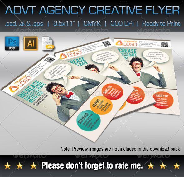 Advertising Agency Creative Flyer Pinterest Creative flyers - advertisement flyer maker