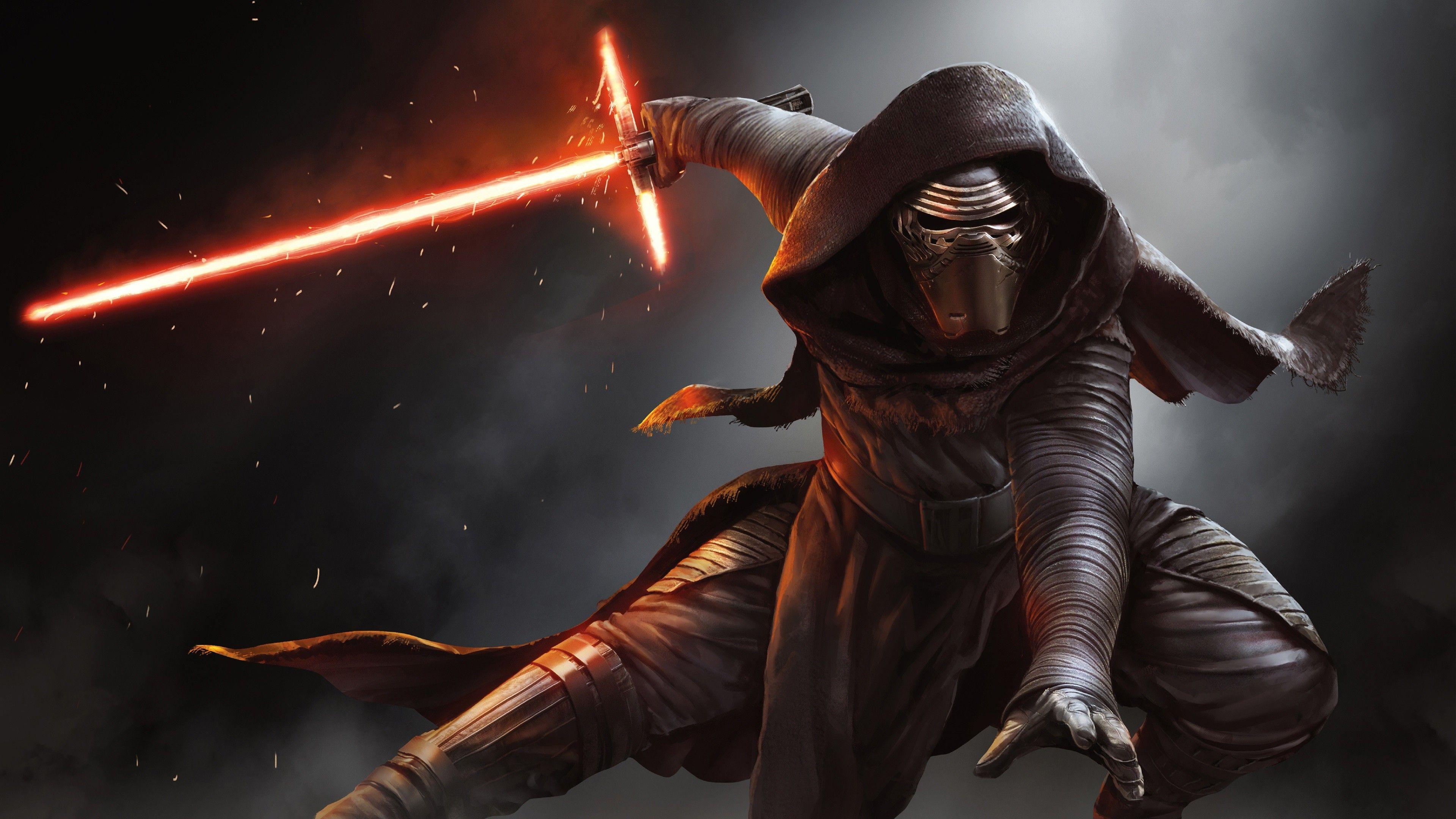 Film-fanartikel Star Wars Ep7 Kylo Ren Pappaufsteller Pappfigur Standy Ca Filme & Dvds 184 Cm