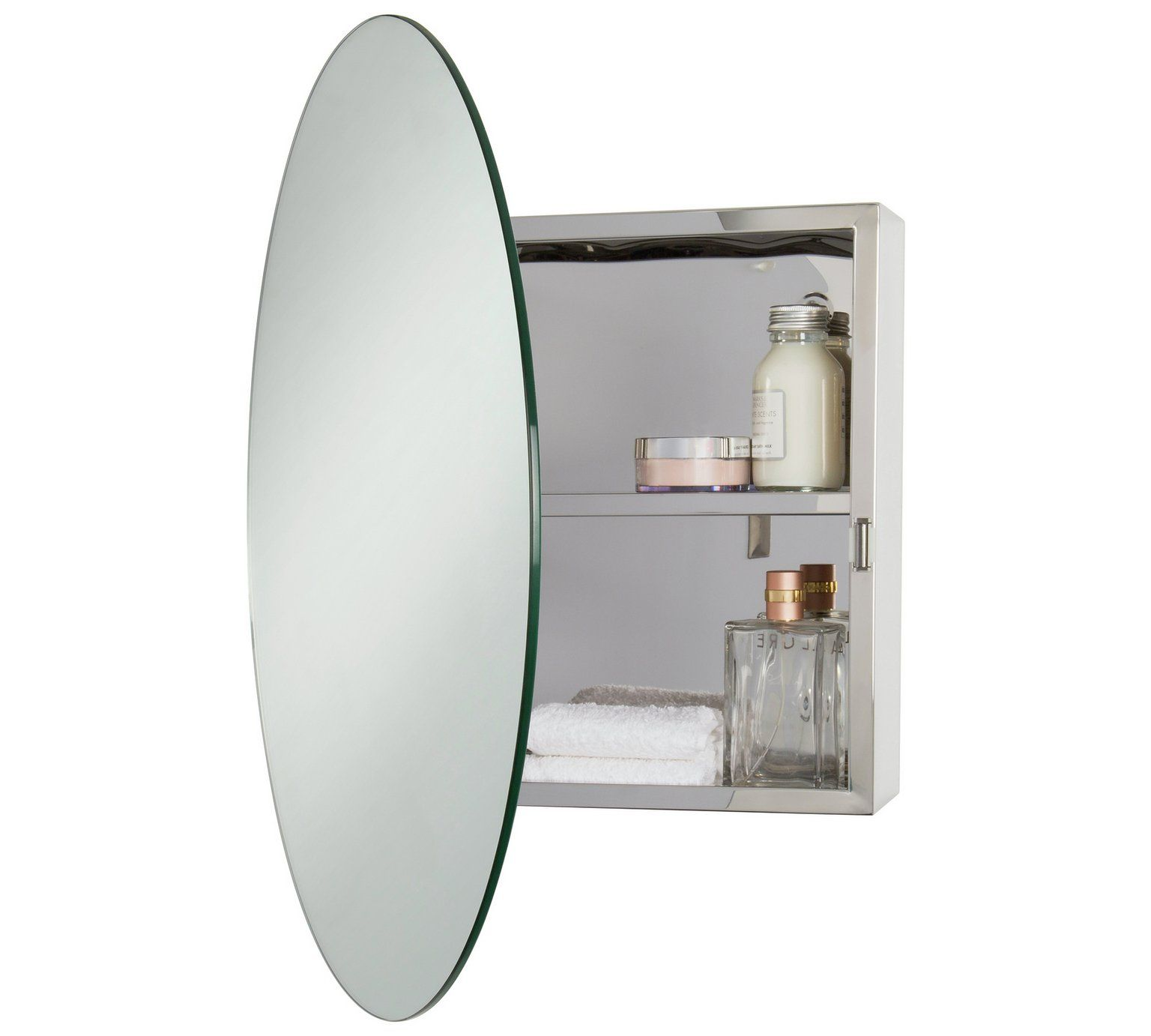 Buy Croydex Severn Round Stainless Steel Mirrored Door Cabinet Bathroom Cabinets Bathroom Mirror With Shelf Small Bathroom Furniture Stainless Steel Cabinets