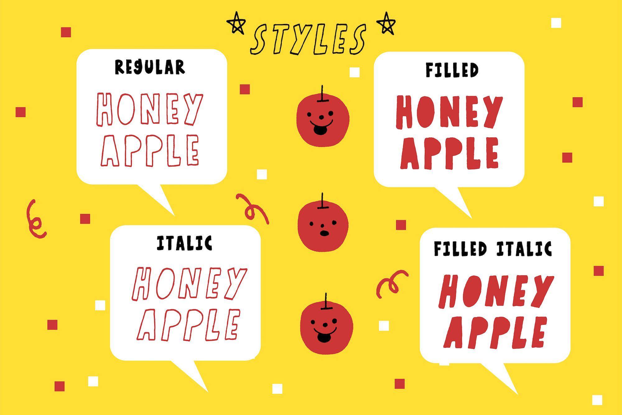 Honey Apple Typeface, Apple desktop, Apple