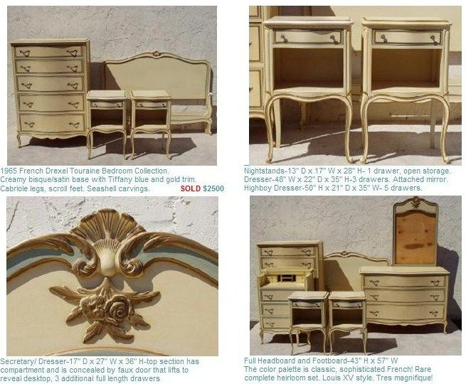 Touraine By Drexel French Provincial Bedroom Furniture Set