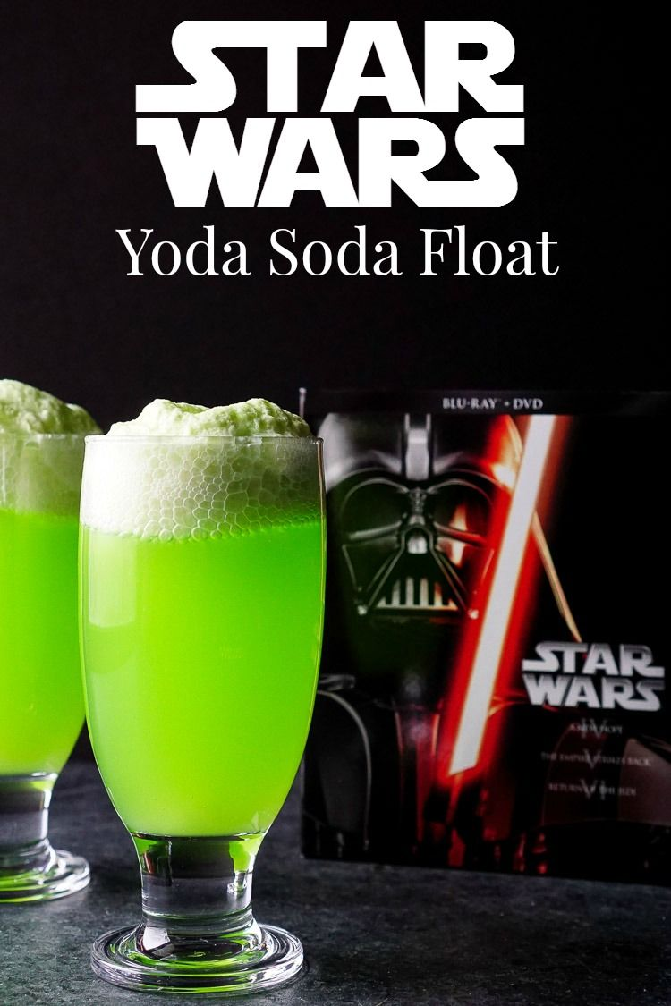these yoda soda floats are a simple and fun addition to any star wars themed party or movie. Black Bedroom Furniture Sets. Home Design Ideas