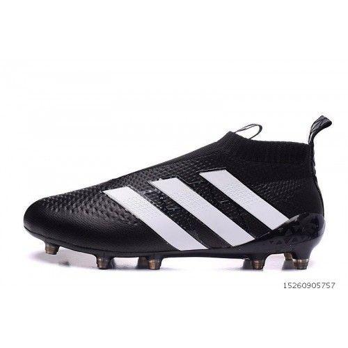 100% authentic d4b9e 9568c Adidas ACE Fotbollsskor - Billig Adidas ACE 16 Purecontrol FG-AG Svart Vit  Fotbollsskor