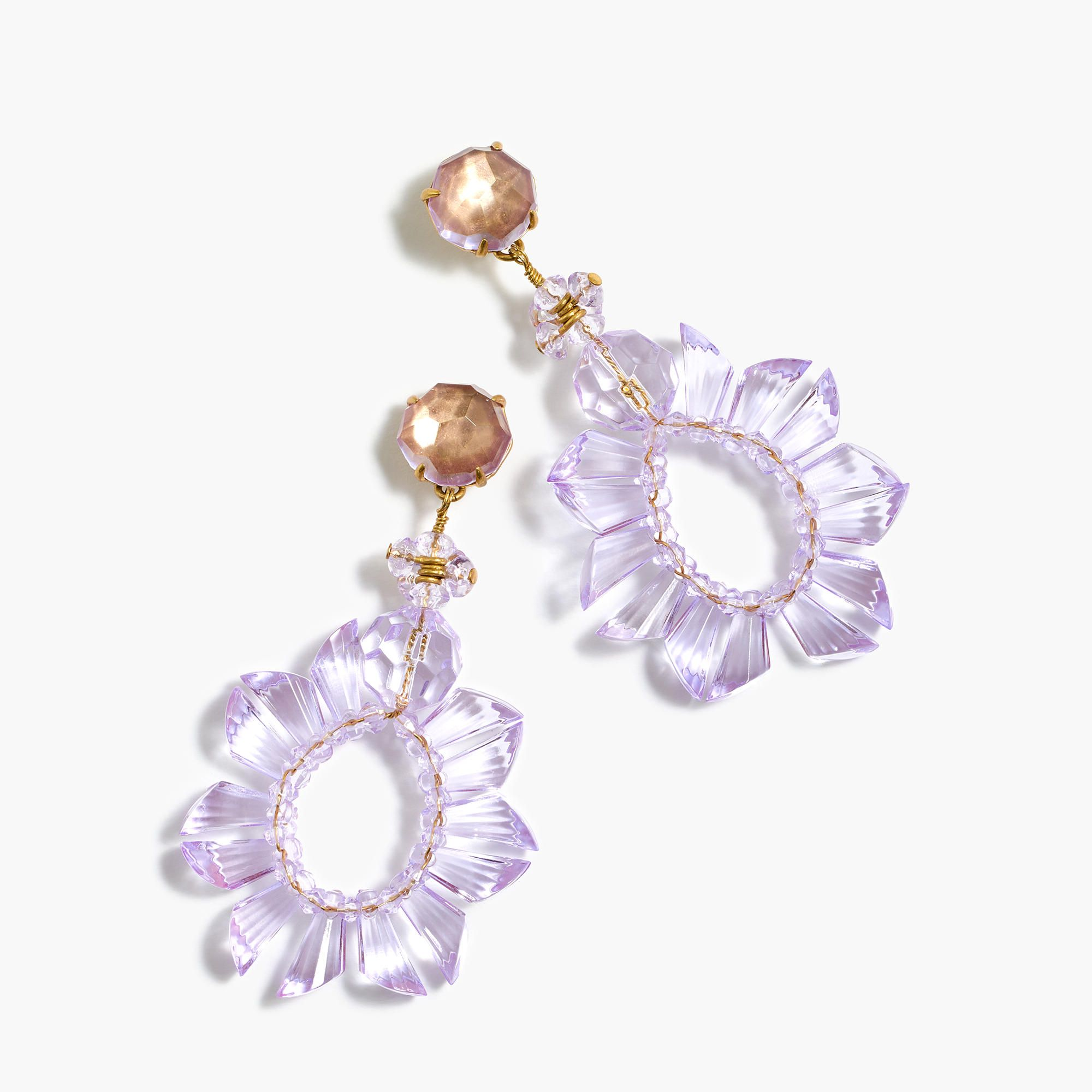 Pretty, eye-catching crystal earrings = an instant outfit upgrade ...