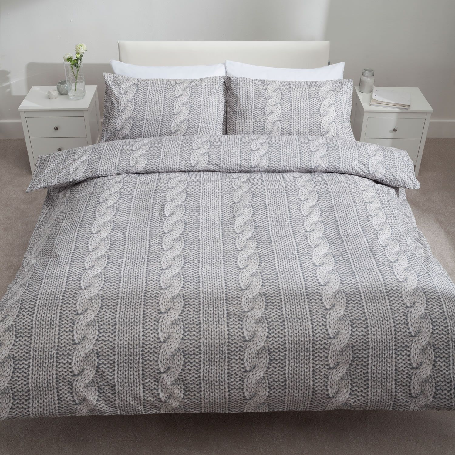 Lovely Catherine Lansfield Cable Knit Bedding Set. Http://www.worldstores.co