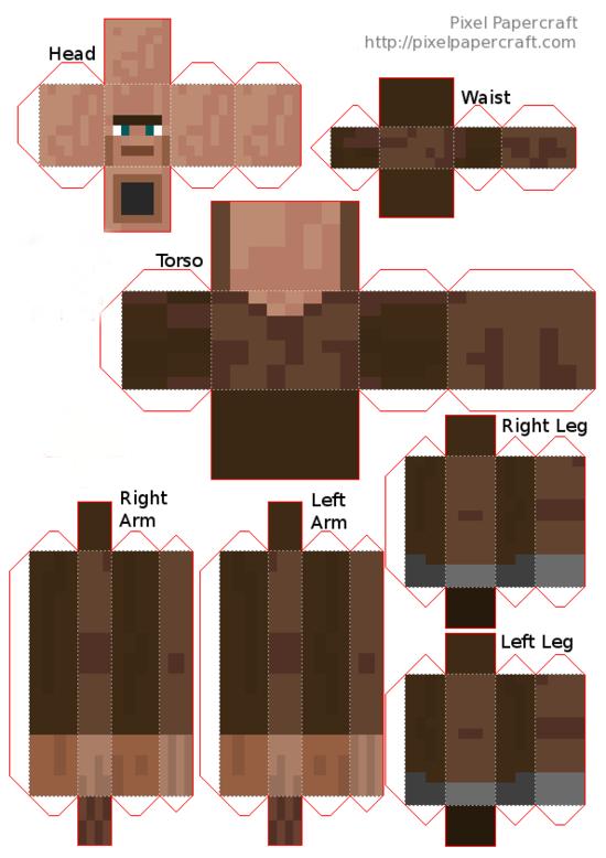 Papercraft mutant villager Minecraft