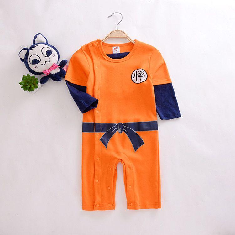 1921f58ef8da Dragon Ball Baby Rompers Newborn Baby Boys Clothes SON GOKU Toddler ...