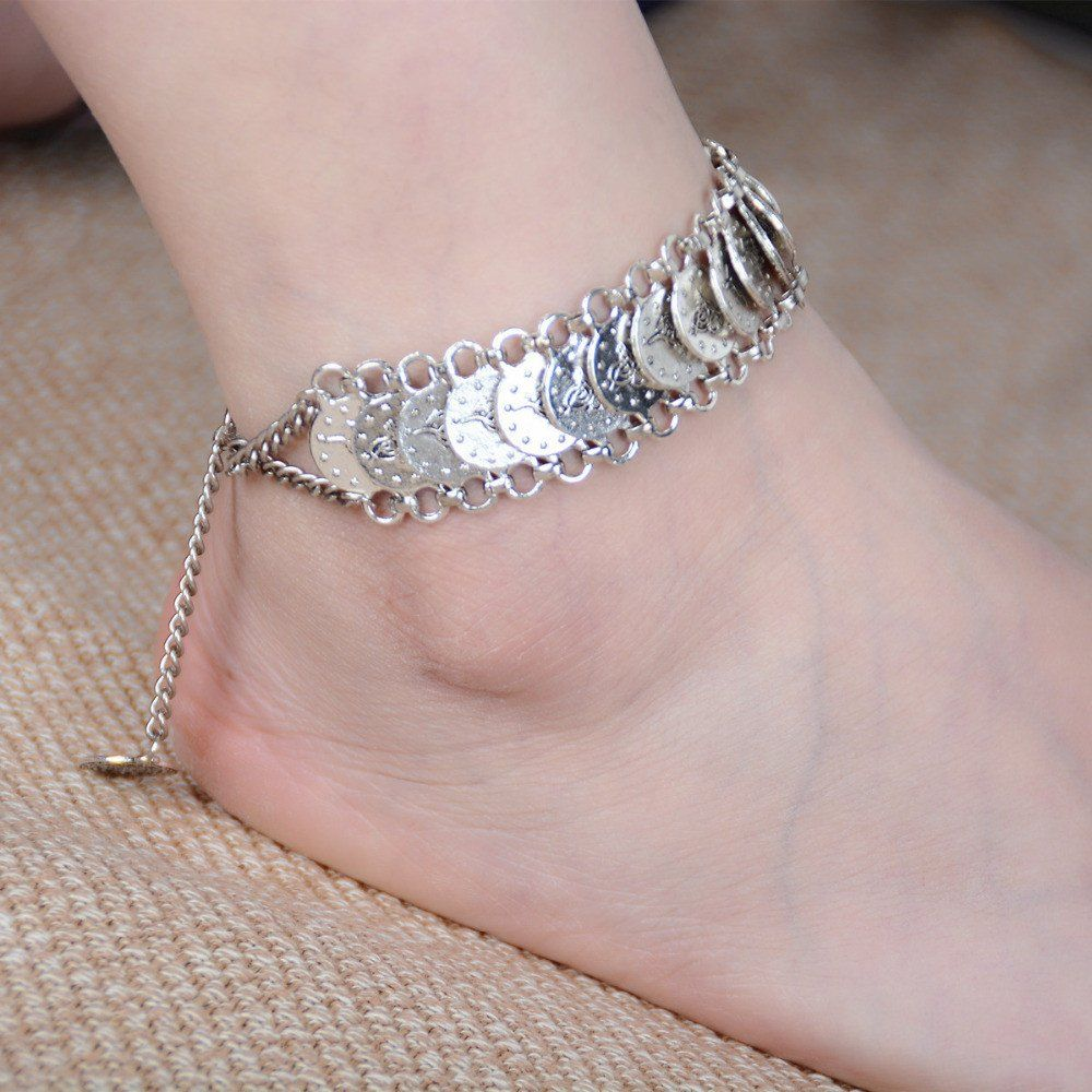 il bar braided tube fullxfull brown bracelet plated anklet a cord ankle braid with bangle gold products