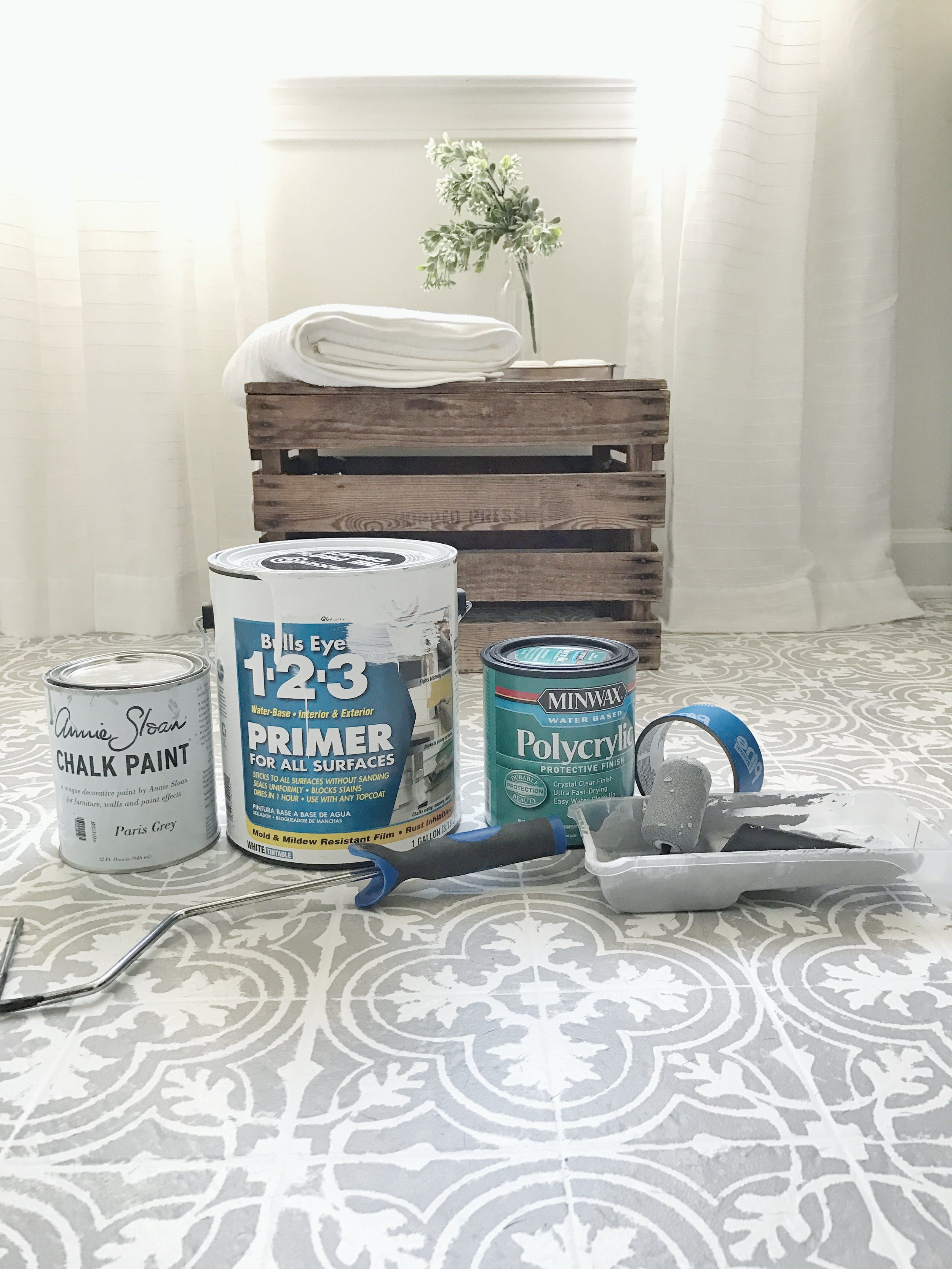 How to paint your linoleum or tile floors to look like patterned how to paint your linoleum or tile floors to look like patterned cement tiles full doublecrazyfo Choice Image
