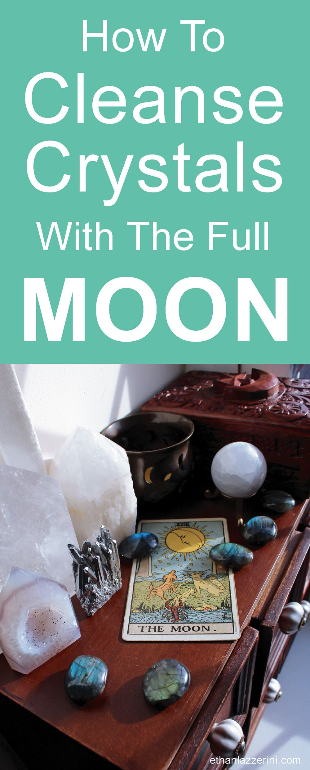 How to cleanse crystals by the full moon full moon how