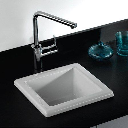 Butler Rose Laboratory Sink 2 Single Bowl White Ceramic Sink 330 X 330mm Ceramic Sink Sink Ceramic Kitchen Sinks