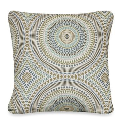 Badabing Square Toss Pillow In Peacock Bedbathandbeyond Com Throw Pillows Square Throw Pillow Decorative Toss Pillows
