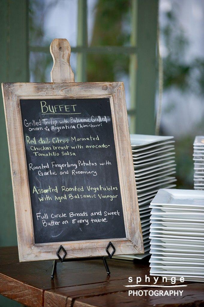 menu on chalkboards!