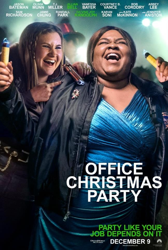 See Jillian Bell And Da Vine Joy In Office Christmas Party In Theaters December 9th Office Christmas Party Movie Christmas Party Movie Office Christmas Party