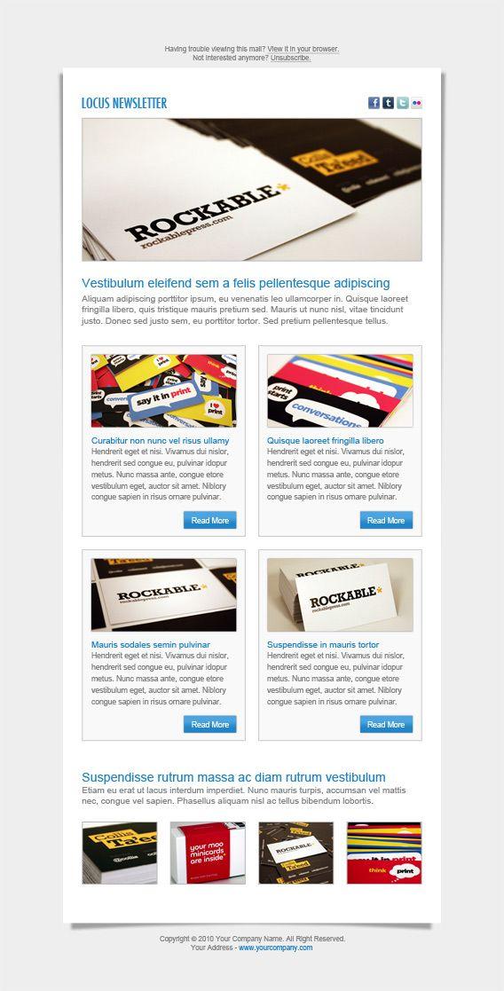 Locus Newsletter Layout I \u2013 PSD FRG Newsletter Pinterest