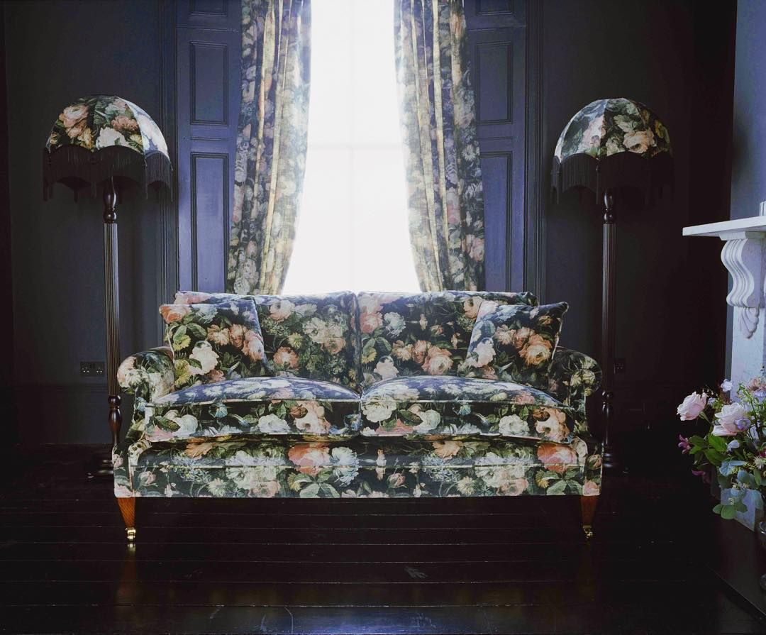 Traditional R O M A N C E with rich dark undertones. #MidnightGarden is available across interiors and home accessories. by houseofhackney