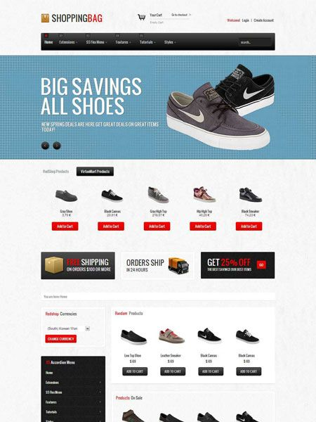 Shopping Bag Joomla Responsive eCommerce Template | eCom ...