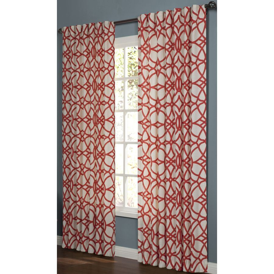 Shop Allen Roth Oberlin 63 In Cotton Back Tab Single Curtain Panel At Lowes