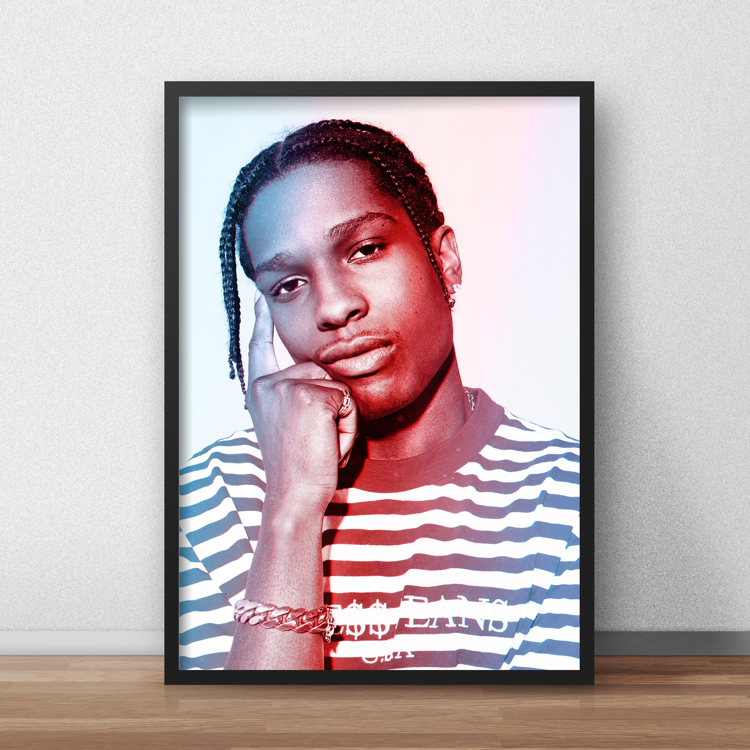 Asap Rocky Rapper Wall Tapestry A$AP Tripping Wall Tapestry