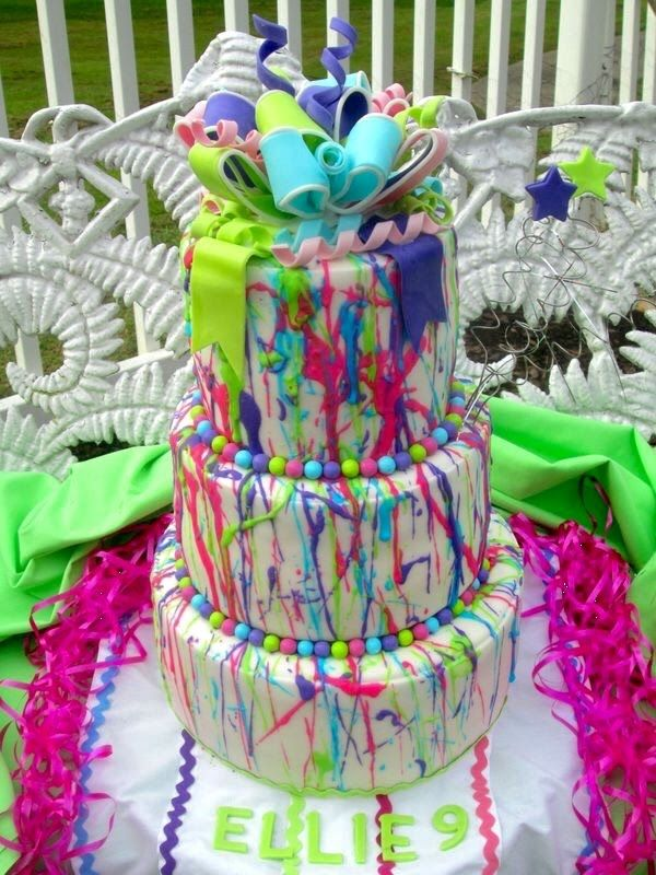 Splatter Cake From Start To Finish Crafts Dance Party
