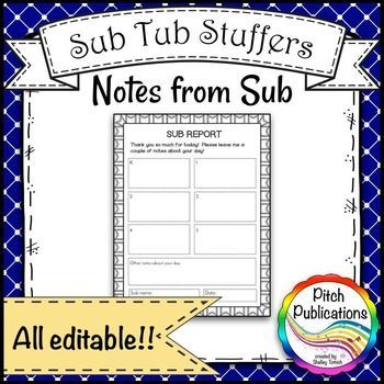 Music-Sub-Tub-Stuffers-Music-Sub-Plan-Template-Substitute-Plans - release notes template