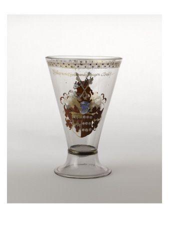 Grand gobelet à pied à écussons émaillés - Musée national de la Renaissance (Ecouen)