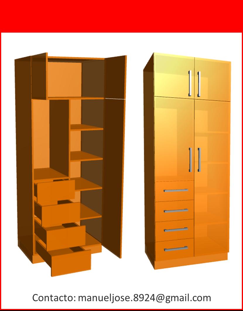 Dise o de muebles madera construcci n de closet modulares for Construccion de muebles de madera