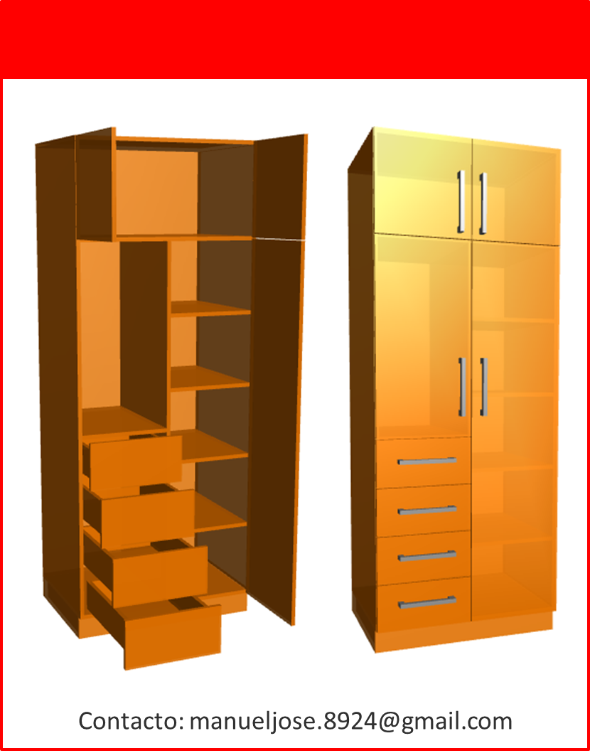Dise o de muebles madera construcci n de closet modulares for Planos muebles madera