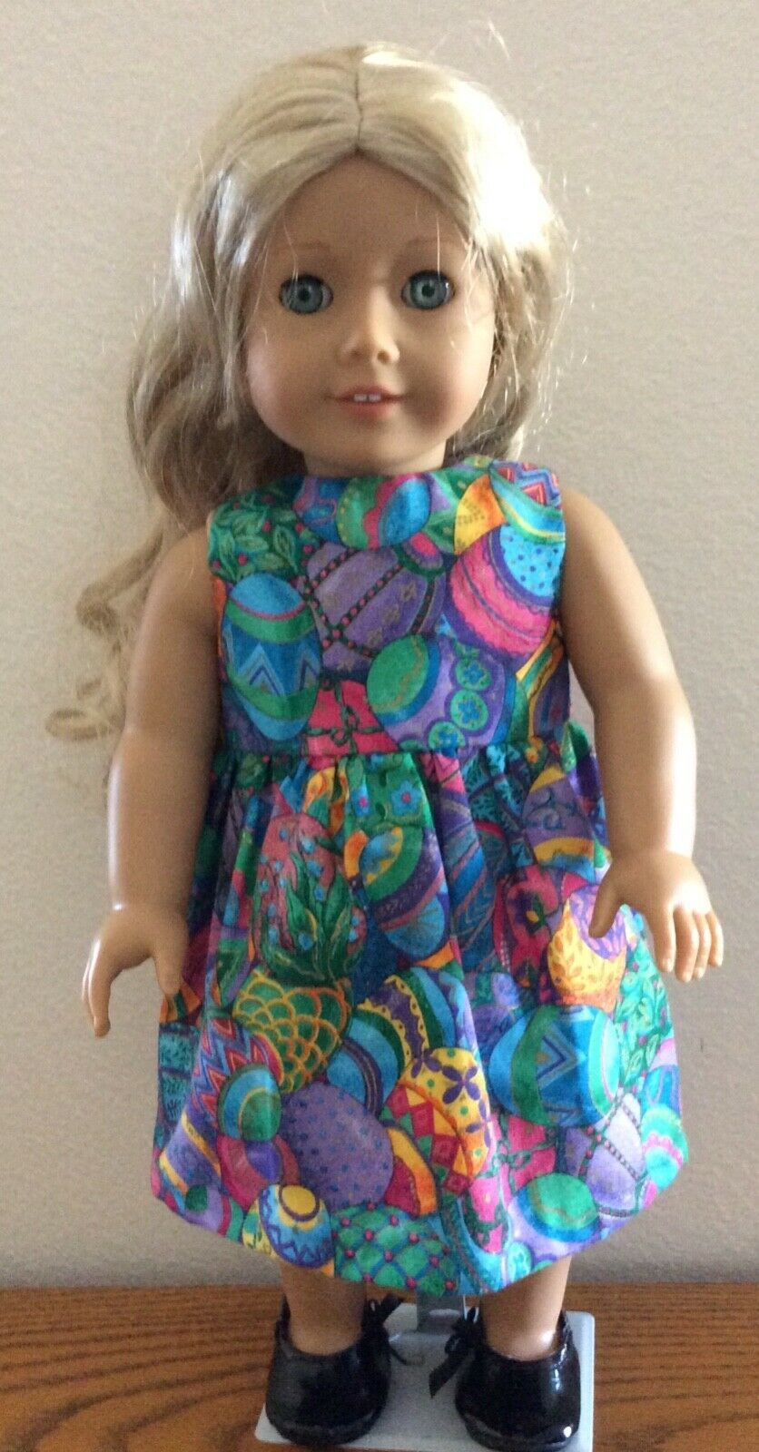 Easter Flower Shift Dress American Made Doll Clothes For 18 Inch Girl Dolls