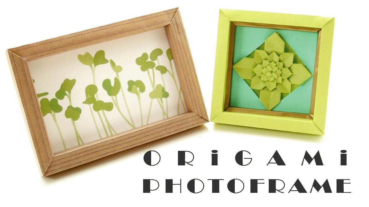フォトフレーム 作り方 【折り紙方式】 Origami Photo Frame   お ...