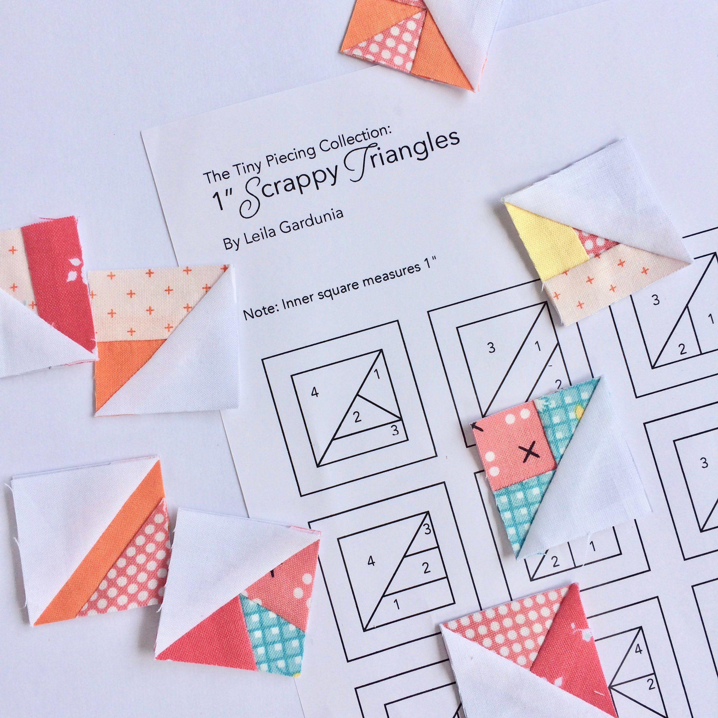 1 Scrappy Triangles From The Tiny Piecing Collection Etsy Paper Piecing Patterns Foundation Paper Piecing Paper Pieced Quilt Patterns