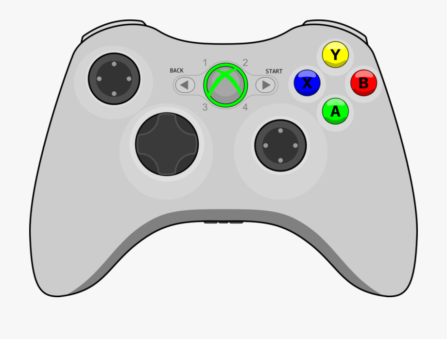 Video Game Clipart Vector Xbox Controller No Background Free Unlimited Download On Clipartwiki To Search And Explore More Rel Xbox Controller Clip Art Xbox