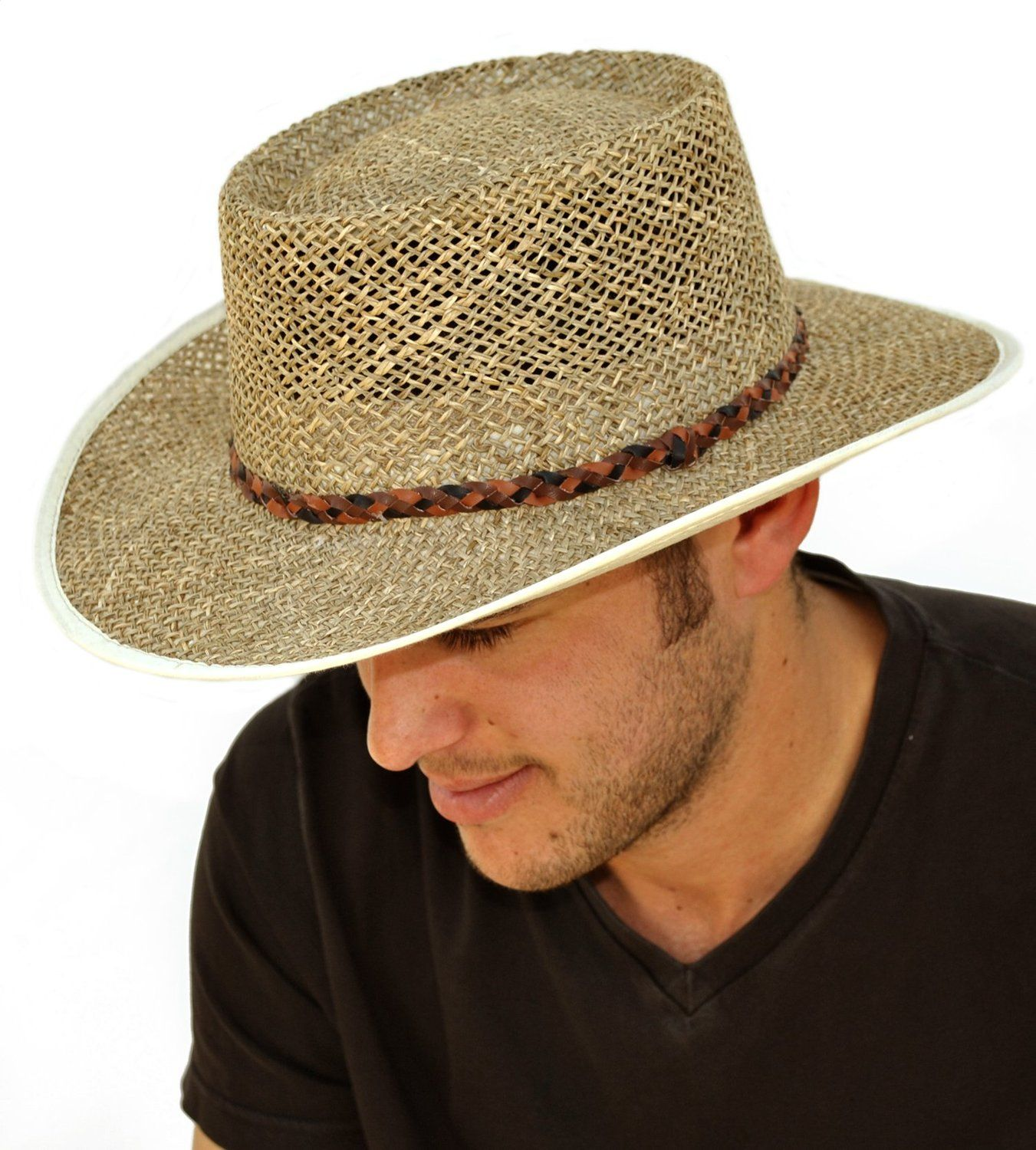 Mens Greg Norman Style Seagrass Straw Summer Hat S19  Amazon.co.uk  Clothing d6f5bf41d52