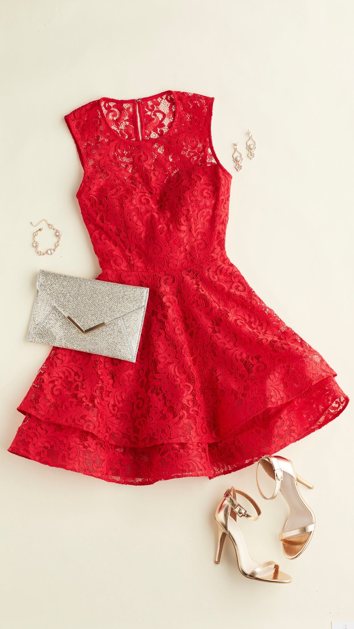 Flannel homecoming dress  We love a little red homecoming dress This style is under  and