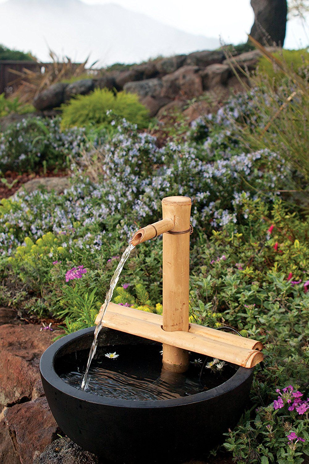 40 Amazon Com Bamboo Accents Water Fountain Kit 12 Inch Adjustable Medium Size Water Pump Included Bamboo Fountain Bamboo Water Fountain Water Fountain