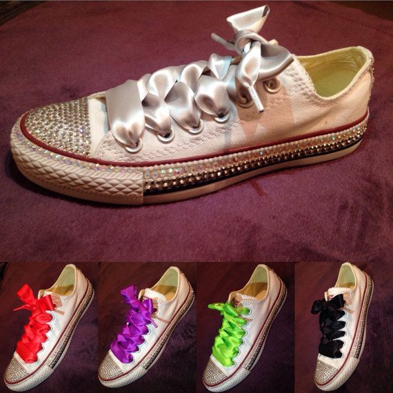 2314db369f7d Converse adults fully customised rhinestones by alaskacrystals ...
