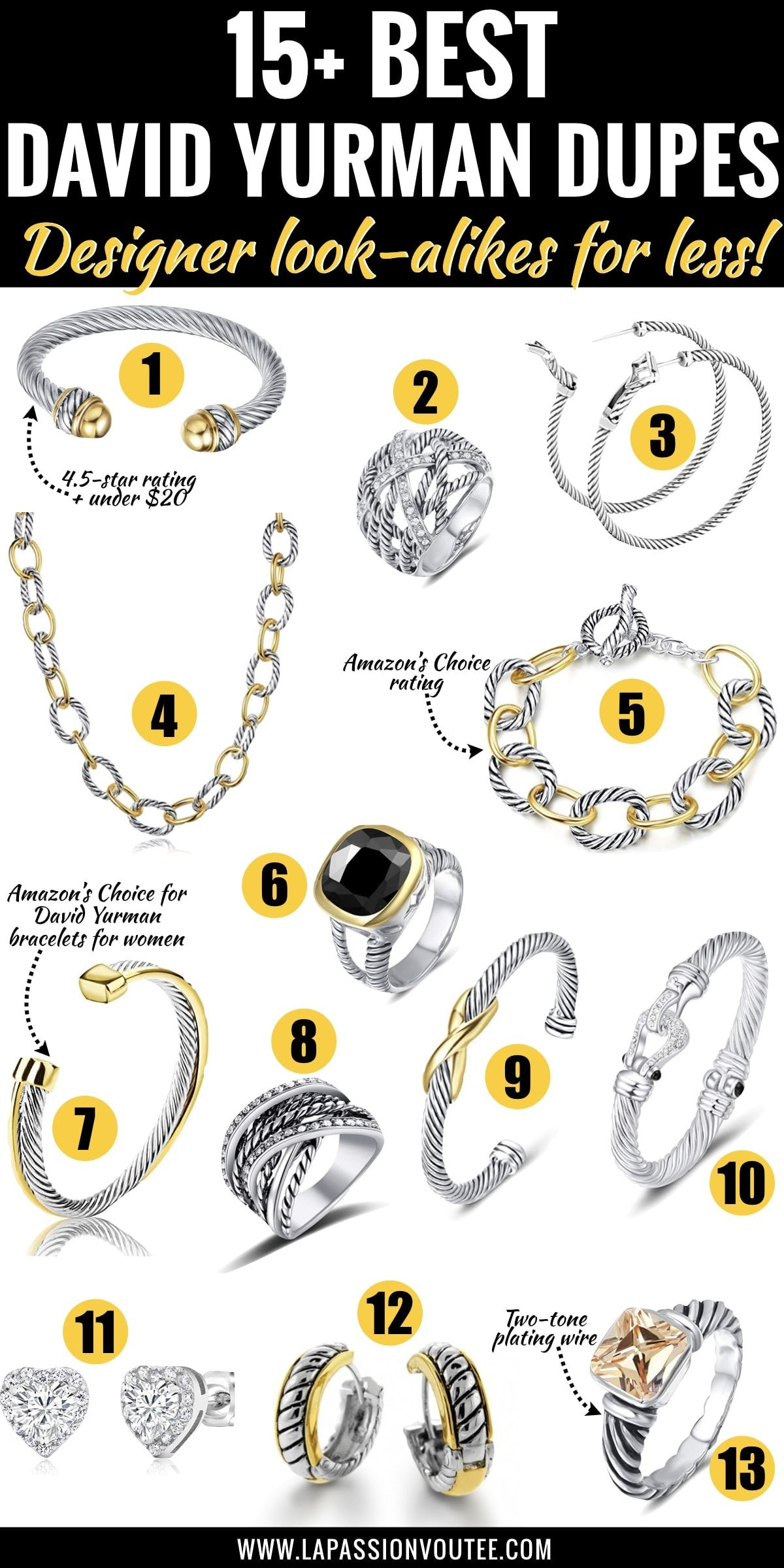 Replica David Yurman : replica, david, yurman, Best-selling, David, Yurman, Dupes!, Ultimate, Guide, Alike, Yur…, Jewelry,, Bracelet,, Black, Fashion, Bloggers