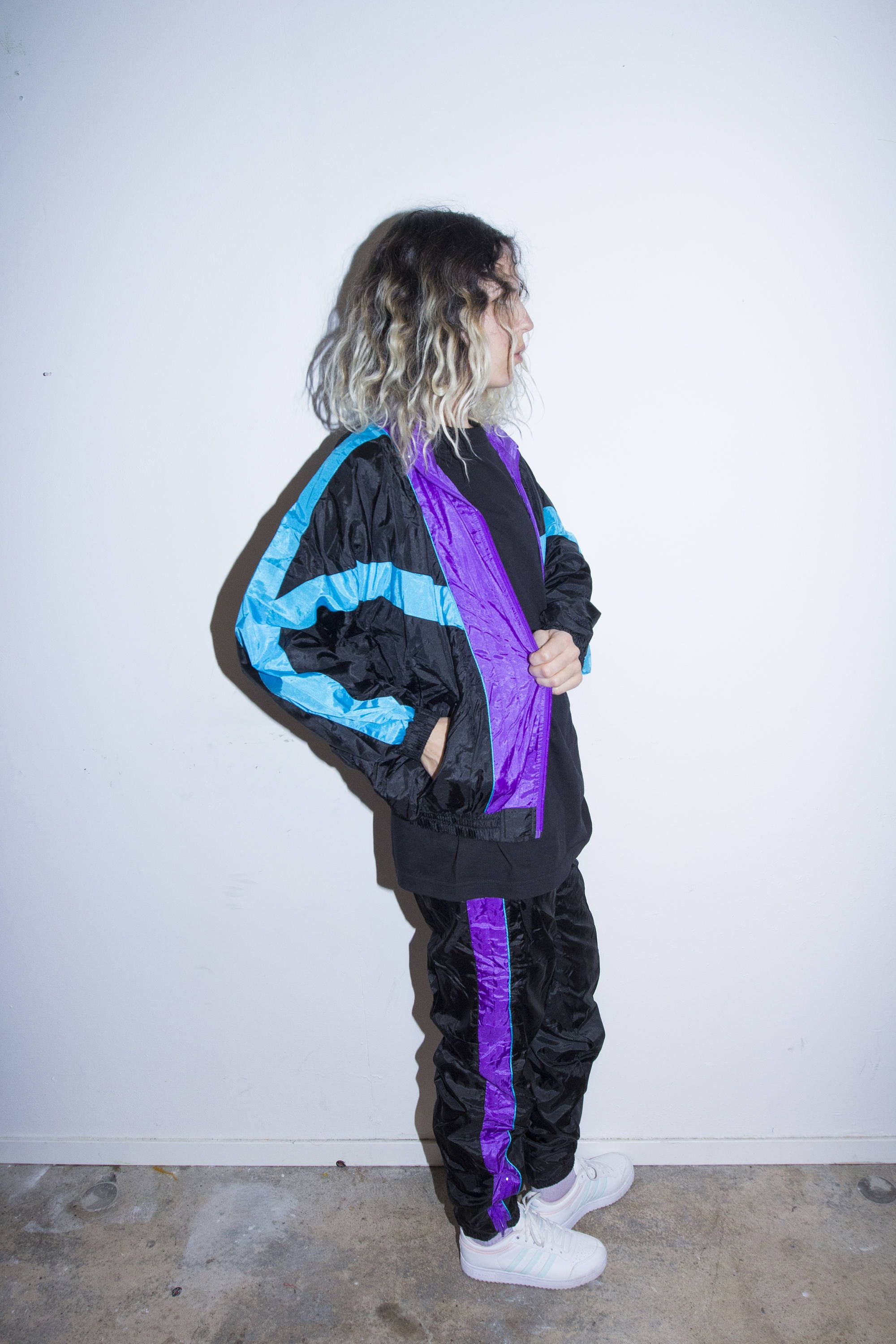 new product da21b d9d50 80s Retro Sportswear 90s Overall Breakdance Hip Hop Old School Tracksuit 2  Piece Set Vintage Vanilla Ice Jacket Pant by BananiFashion on Etsy