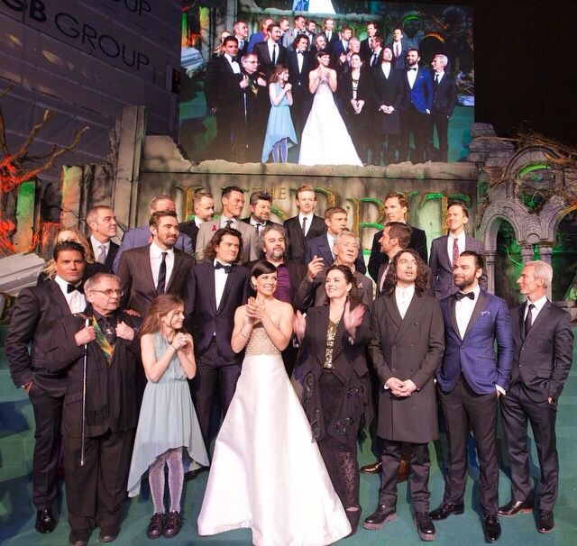 The red carpet cast and crew at The Hobbit- Battle of Five Armies World Premiere