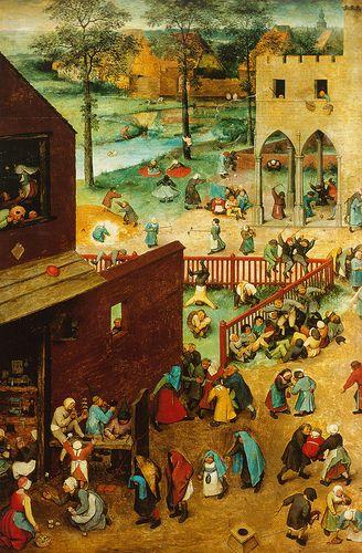 Pieter Bruegel d. Ä., Kinderspiele, Ausschnitt (Pieter Bruegel the Elder, Children's Games, detail)   Flickr - Photo Sharing!