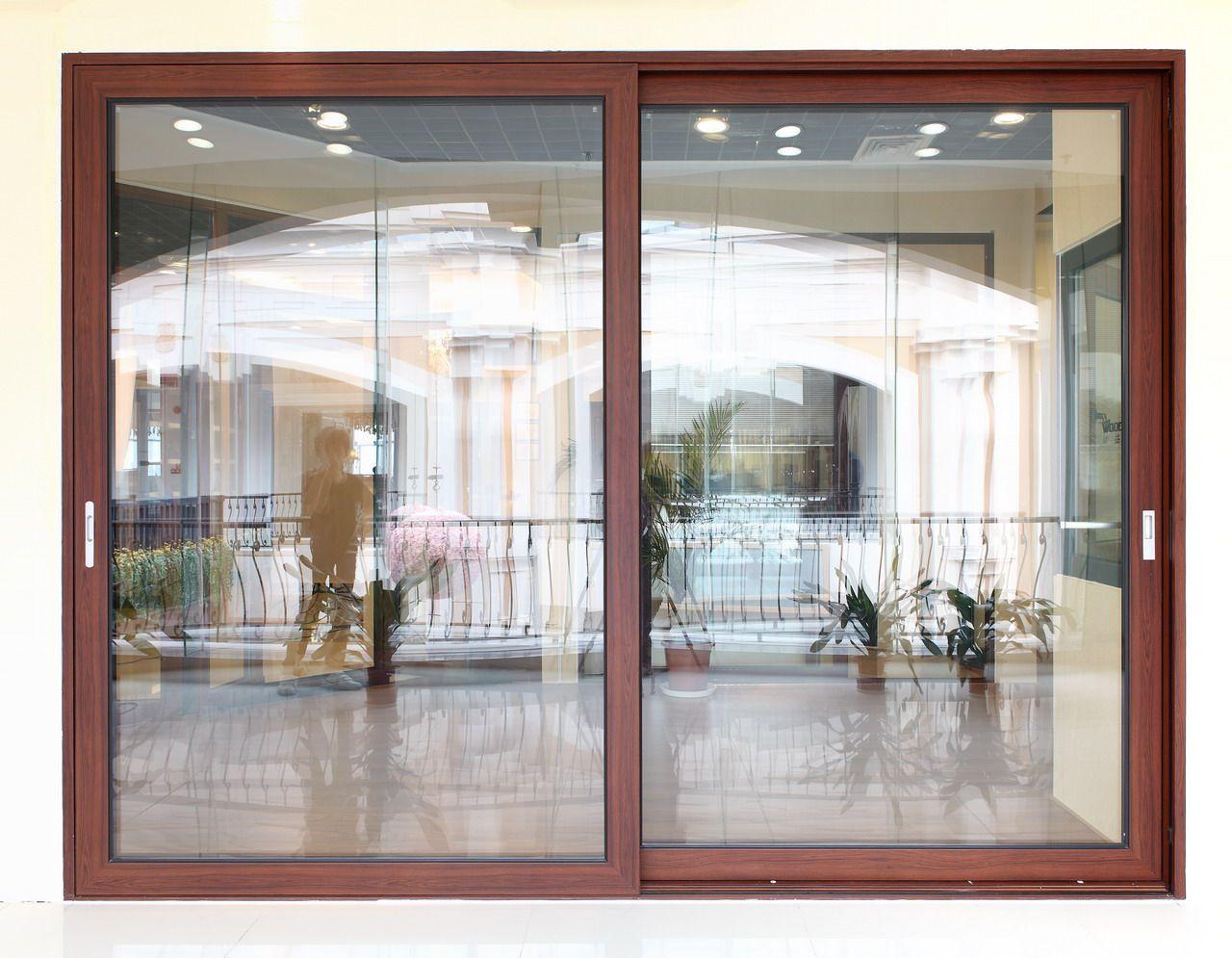 Double Sliding Door In 2020 Sliding Glass Doors Patio Double Sliding Glass Doors Sliding Doors Exterior