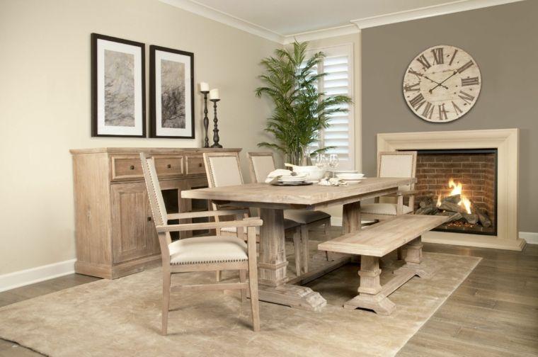 conjunto muebles madera comedor modernos - Muebles De Comedor Modernos